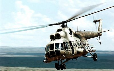 An Mi-8 helicopter. (photo credit: US Navy, Wikimedia Commons, illustrative)