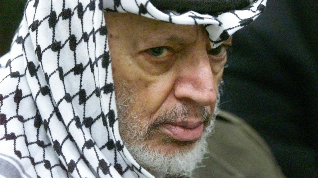 Yasser Arafat in 2002 (photo credit: AP Photo/Lefteris Pitarakis)