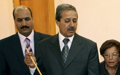 Nawaf Fares briefs a UN delegation in 2008 (photo credit: AP)