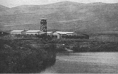 The tower and fence of Kibbutz Nir David in the 1940s. (photo credit: Gigal Magazine/public doman, Wikimedia Commons)