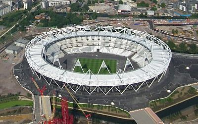 Aerial view of Olympic Park, in London (photo credit: CC-BY, by BaldBoris, Wikimedia Commons)