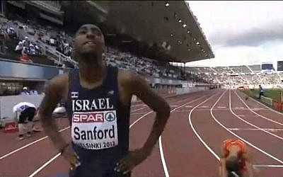 Donald Sanford at the 2012 European Championships (photo credit: screen capture Mikebascombe/Youtube)