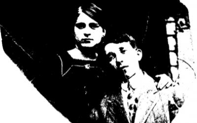 Salomon Helfner (right) and his sister, Dora Helfner. (photo credit: Francine Helfner)