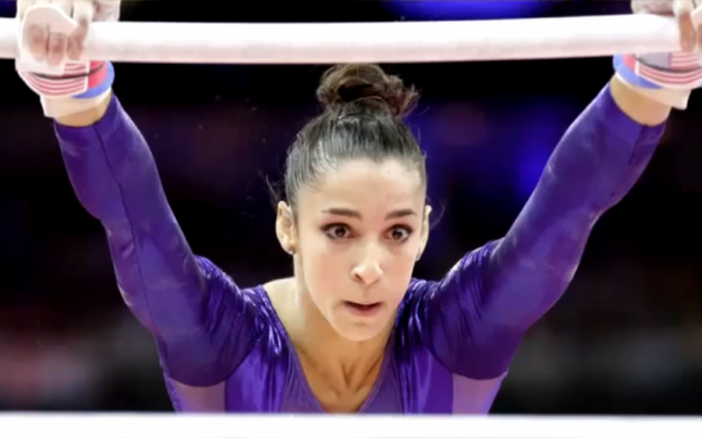 """""""Hava Nagila"""" fan Aly Raisman will take her moves to """"Dancing With the Stars."""" (YouTube)"""