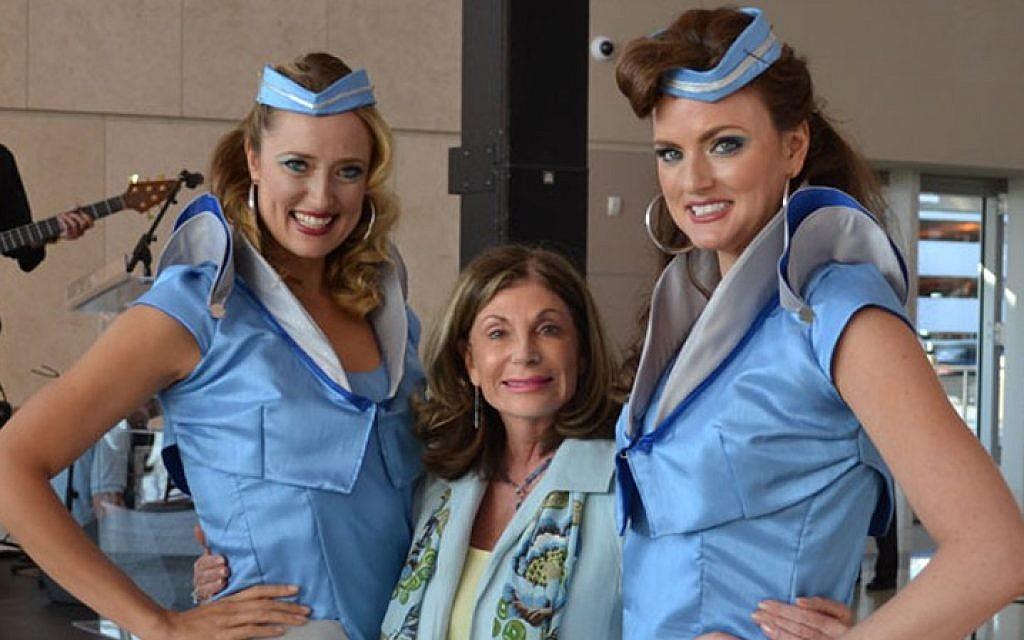 Rep. Shelley Berkley, center, attending an event at McCarran Airport in Las Vegas, June 13, 2012. (photo credit: Rep. Shelley Berkley official Twitter page/JTA)
