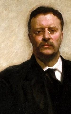 A portrait of Theodore Roosevelt by John Singer Sargent from 1903. (photo credit: The White House Historical Association, Wikimedia commons)