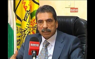 Tawfiq Tirawi (screen capture: ScreenNews/YouTube)
