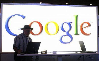 A speaker makes a presentation at a recent Google event (Photo credit: Serge Attal/Flash 90)