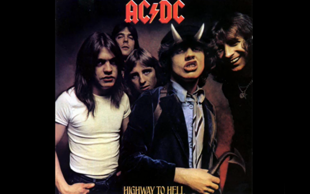 The metal rock group, AC/DC, for their Highway to Hell album (photo credit: screen capture, YouTube)