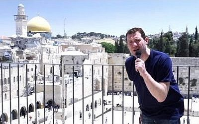 Billy Eichner reports from Israel for Conan (photo credit: video capture, TBS)