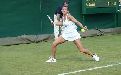 Camila Giorgi plays at Wimbledon (photo credit: courtesy http://www.camilagiorgi.it)