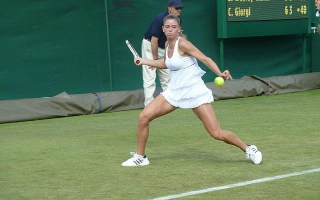 Camila Giorgi plays at Wimbledon (photo credit: courtesy http://www.camilagiorgi.it)
