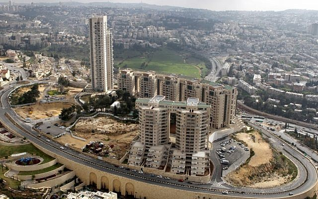 The Holyland building project, at the heart of a huge corruption scandal involving high-ranking Jerusalem officials, including former prime minister Ehud Olmert (photo credit Nati Shohat/Flash90)
