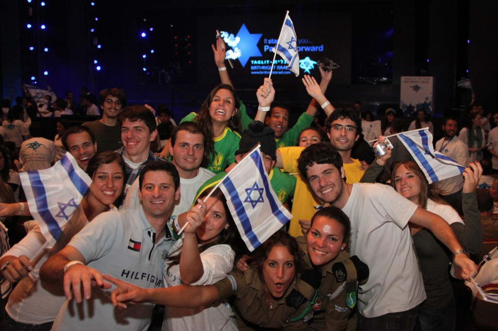 Participants in a Taglit Birthright program in Jerusalem in January, 2012 (photo credit: Marc Israel Sellem/Flash90)