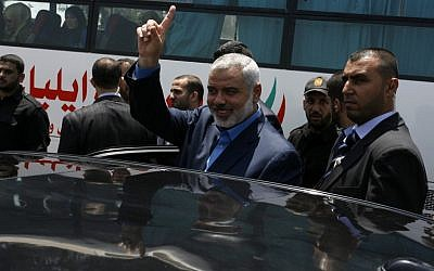 Former Hamas PM Ismail Haniyeh (photo credit: Abed Rahim Khatib / Flash 90)