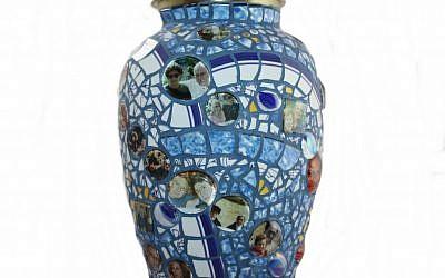 Sybil Sage's personalized mosaic urn (photo credit: Courtesy)