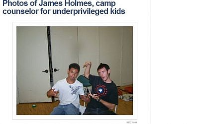 Holmes with an unidentified camper at the camp. (Screenshot: NBC News)