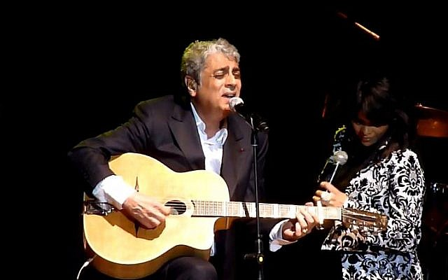 Enrico Macias and Yasmin Levy perform in Tel Aviv in 2011 (photo credit: Youtube screen capture)