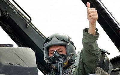 Solomon Passy aboard an F-16 in 2007 (photo credit courtesy: Solomon Passy)
