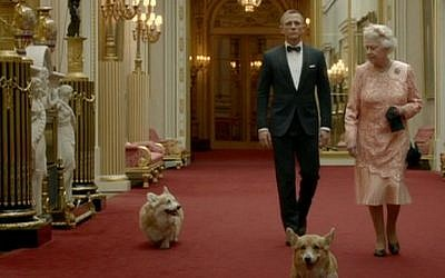 Bond, your majesty. (photo credit: BBC screen grab)