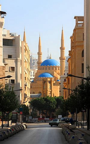The al-Amine Mosque in Beirut was built by the slain Prime Minister Rafik Hariri and inaugurated by his son (Photo credit: Shutterstock)