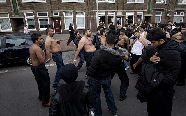 Shiites celebrate the day of Ashura in the Hague, Netherlands, 2011 (photo credit: Jan kranendonk/Shutterstock.com)