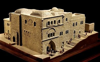 A model of the Mediterranean Hotel, near Damascus Gate, where Twain and many other Americans stayed (Photo Credit: Courtesy: National Library of Israel)