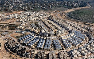 An aerial view of Modiin. (David Katz/The Israel Project)