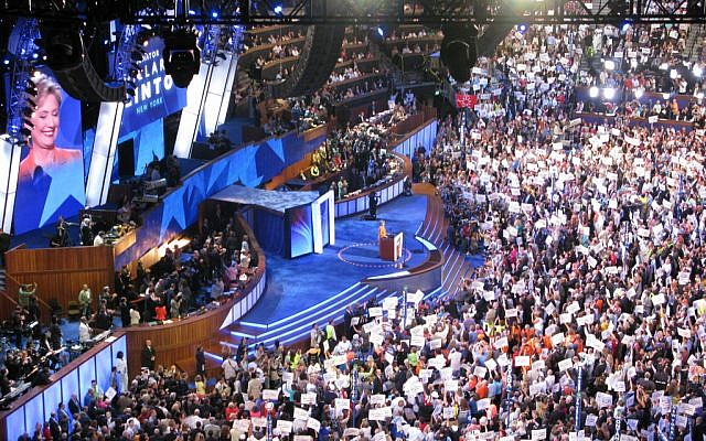 The 2008 Democratic National Convention. (photo credit: CC BY kellydelay, Flickr)