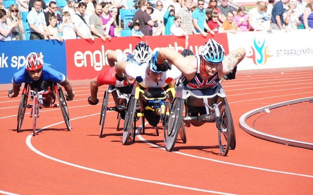 A Paralympics sprint event (photo credit: CC BY Stuart Grout, Flickr)