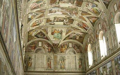 The Sistine Chapel (photo credit: Wikimedia Commons)