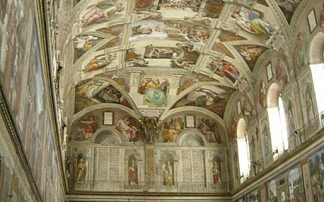 The Sistine Chapel (photo credit: Wikimedia Commons)