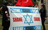 Illustrative photo of anti-Israel activists (photo credit: CC-BY-SA Takver/Flickr))