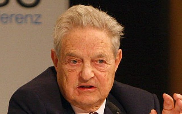Billionaire philanthropist George Soros (photo credit: CC-BY-Harald Dettenborn, Wikimedia Commons)