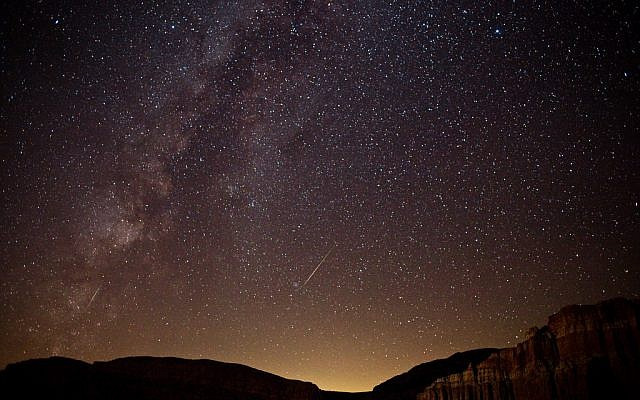 A Perseid meteor streaking across the California sky in 2010 (photo credit: CC-BY-SA  Ian Alexander Norman, Flickr)