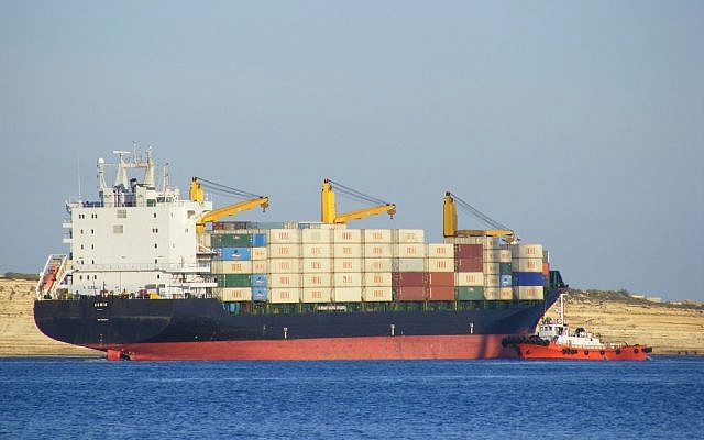 Illustrative photo of an Iranian cargo ship in Malta. (photo credit: CC-BY-SA Sludgepuller, Flickr)