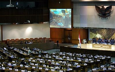 Indonesian Foreign Minister Marty Natalegawa speaking to the parliament in Jakarta last year. (photo credit: CC-BY  The Official CTBTO Photostream, Flickr)