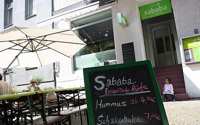 The growing number of Israelis living in Berlin is reflected by the recent opening of several hummus joints, including Sababa. (Photo credit: Assaf Uni)