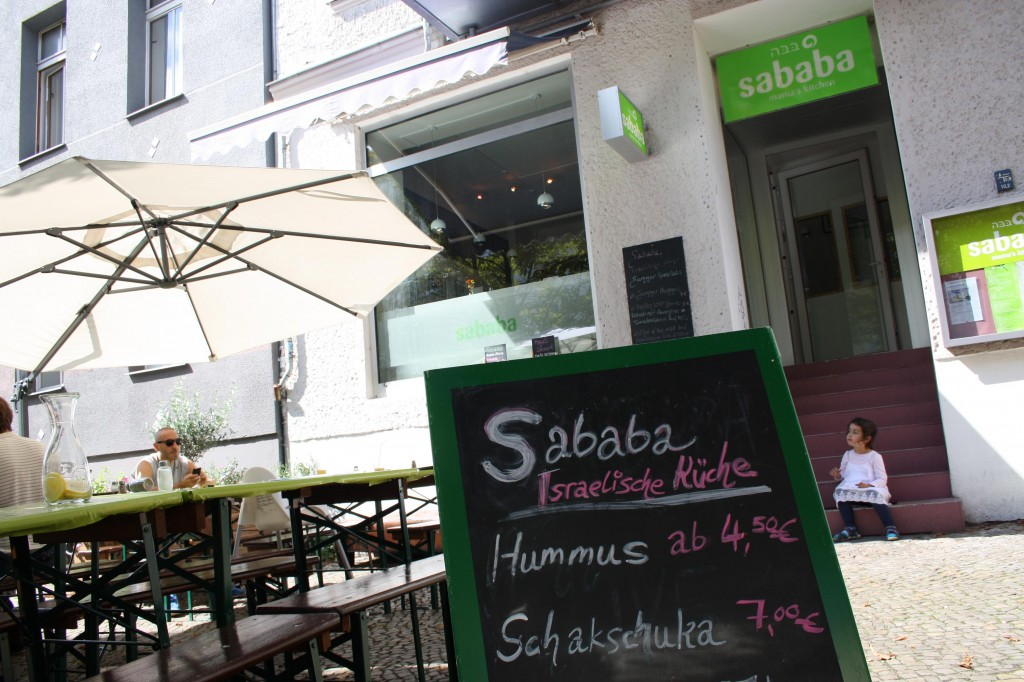 The growing number of Israelis living in Berlin -- reflected by the recent opening of the Sababa hummus restaurant -- is leading to debates over how much public assistance is appropriate to accept. (Photo credit: Assaf Uni)
