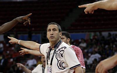 David Blatt during an Olympic qualifier in July. (photo credit: AP//Fernando Llano)