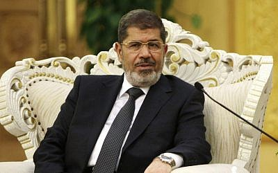 Egypt's President Mohammed Morsi (photo credit: AP/How Hwee Young)