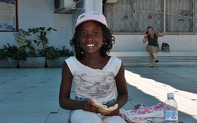 Chantal, whose parents are from Congo, was born in Israel. She is also a student at the Bialik-Rogozin school. (photo credit: Michal Shmulovich/Times of Israel)