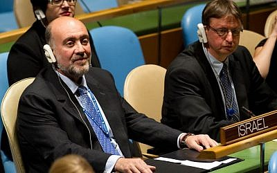 Israel's UN Ambassador Ron Prosor, left (photo credit: Courtesy/File)