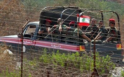 Lebanese fighters patrolling Southern Lebanon in 2006. (photo credit:Haim Azulay /Flash90)