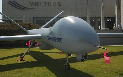 Illustrative: An Elbit UAV. (Tsahi Ben-Ami/Flash90)