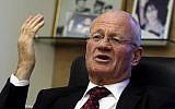 Ex-Mossad chief Danny Yatom (photo credit: Olivier Fitoussi /Flash90)