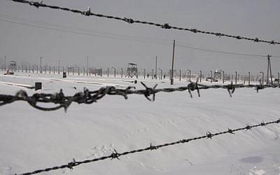 Illustrative photo of Auschwitz's barbed wire fences (Isaac Harari/Flash90)
