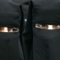 Illustrative: Women wearing burkas. (Abed Rahim Khatib/Flash90)