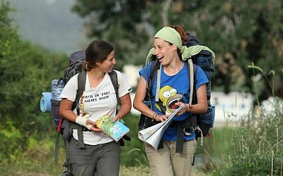 Hikers walk the Israel National trail, 2008 (photo credit: Moshe Shai/FLASH90)