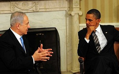 Prime Minister Benjamin Netanyahu and President Barack Obama, the Oval Office, May 2011. (photo credit: Avi Ohayon/Government Press Office/FLASH90)